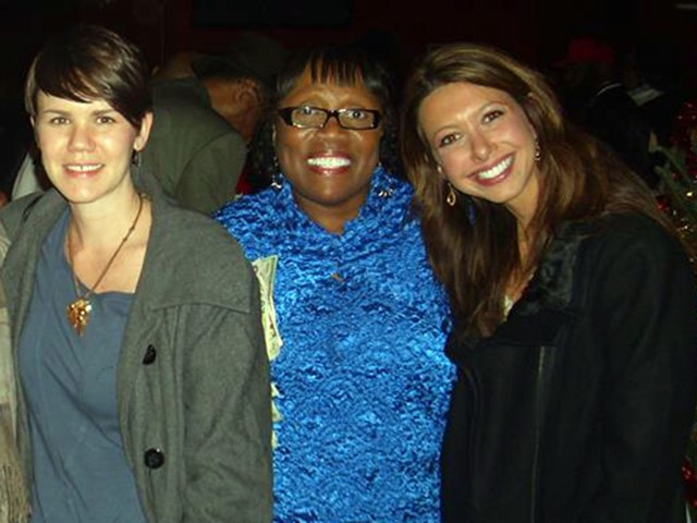 Rachel Dissell, left, will be honored withe the Community Humanitarian Journalism Award. She is pictured with Yvonne Pointer and Jennifer Richvun late last year. (Photo Courtesy of Yvonne Pointer)
